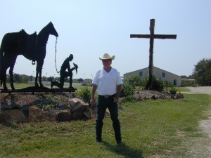 At a cowboy church near Tyler, Texas.