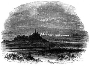 """One artist's conception of """"Ninevah"""": this engraving by John Kitto appeared in 1868 in """"An Illustrated History of The Holy Bible."""""""