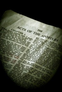 It is not until we reach the Book of Acts that human beings encounter a chance to become children of God by free will.