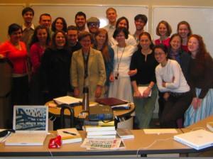 Nancy Pearcey in classroom