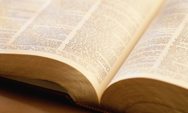 Photo of opened dictionary